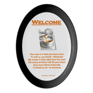 Welcome Porcelain Serving Platter