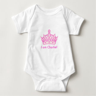 Welcome Princess Charlie! Baby Bodysuit