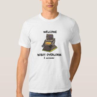 Welcome Robot Overlords printed tee (Spleenbot)