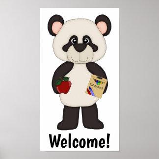 Welcome School Panda Poster