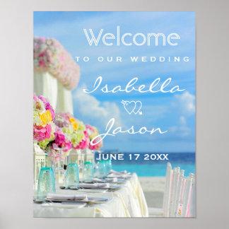Welcome Sign | Ocean Beach Summer Wedding Poster