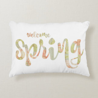 'Welcome Spring' Accent Pillow