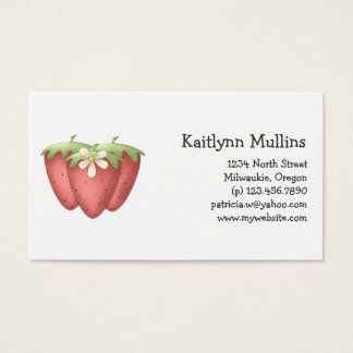 Welcome Spring · Strawberries & Flower Business Card