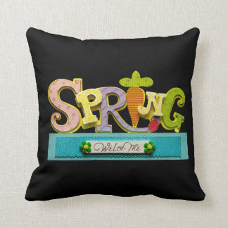 Welcome Spring Throw Pillow