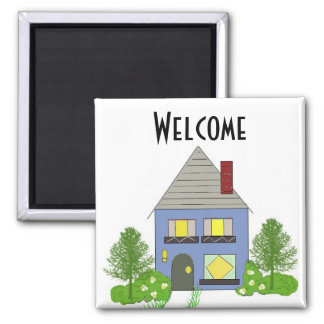 Welcome Square Magnet