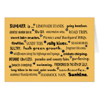welcome summer greeting card