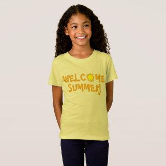 Welcome Summer! Yellow Sun Sunny Day Sunshine T-Shirt