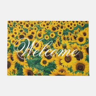 Welcome Sunflowers Personalize Doormat