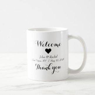 Welcome Thank you wedding mug