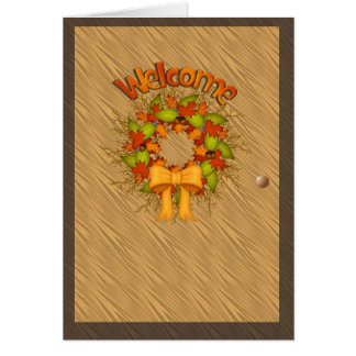 Welcome-Thanksgiving Card