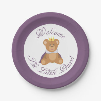 Welcome The Little Prince 7 Inch Paper Plate