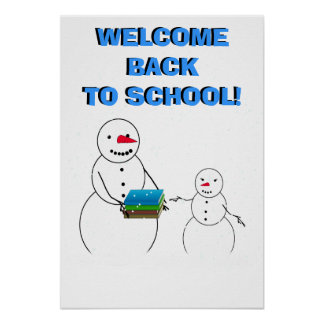Welcome the Student's back to school Poster