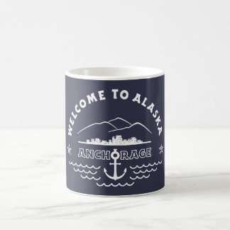 Welcome to Alaska. Anchorage - White Logo Coffee Mug