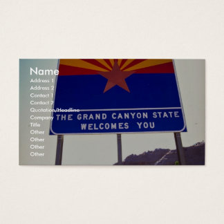 Welcome to Arizona sign at Lupton, Arizona Desert Business Card