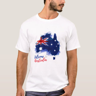 Welcome to Australia   Watercolor Style T-Shirt