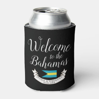 Welcome to Bahamas | Destination Wedding Custom Can Cooler