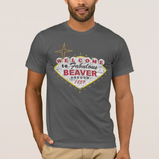 Welcome to Beaver Oregon Retro Grunge State Love T-Shirt