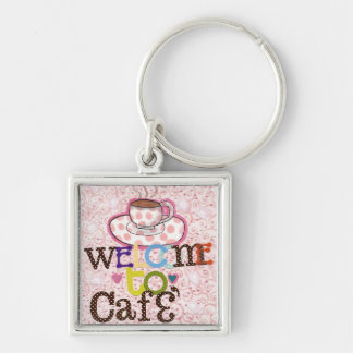 Welcome to Cafe' Key Chain