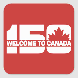 Welcome to Canada - 150 Square Sticker