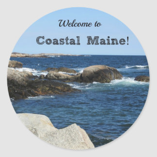 Welcome to Coastal Maine! Classic Round Sticker
