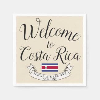 Welcome to Costa Rica   Destination Wedding Custom Disposable Napkin