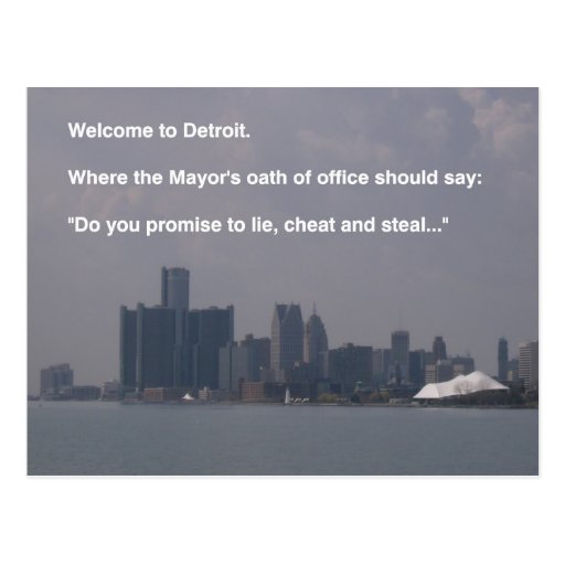 Welcome to Detroit Post Card