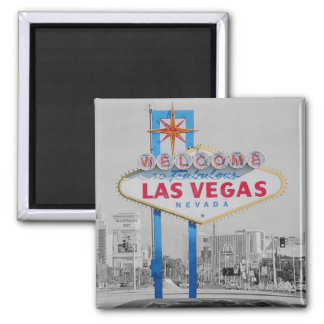 Welcome to Fabulous Las Vegas 2 inch Square Magnet