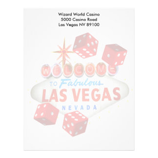 Welcome to Fabulous Las Vegas + Dice Letterhead