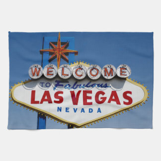 Welcome To Fabulous Las Vegas Historic Sign Hand Towels
