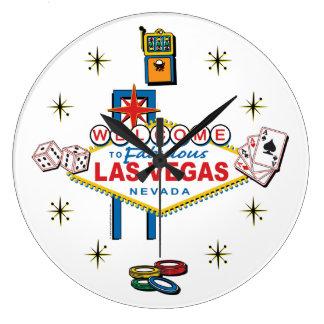 Welcome to Fabulous Las Vegas Large Clock