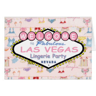 Welcome to Fabulous Las Vegas Lingerie Party Card