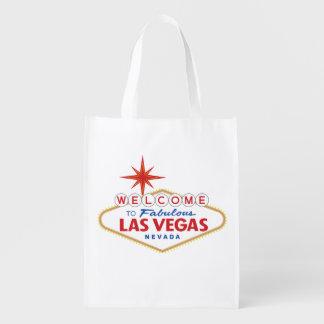 Welcome to Fabulous Las Vegas, Nevada Reusable Grocery Bag