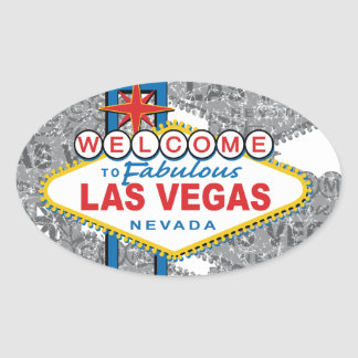 Welcome to Fabulous Las Vegas Oval Sticker