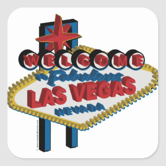Welcome to Fabulous Las Vegas Square Sticker
