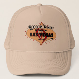 WELCOME TO FABULOUS LAS VEGAS UNIQUE, ORIGINAL, DI TRUCKER HAT
