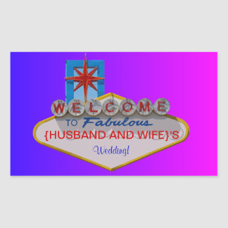 Welcome to Fabulous Your Wedding Sticker