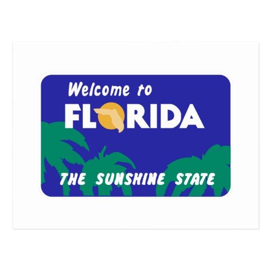 Welcome to Florida - USA Road Sign Postcard