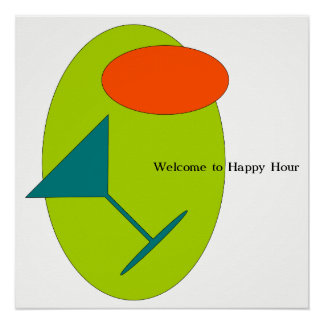 Welcome to Happy Hour Poster