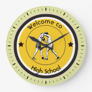 Welcome to High School Large Clock