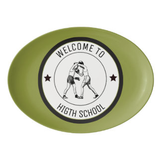 Welcome to High School Porcelain Serving Platter