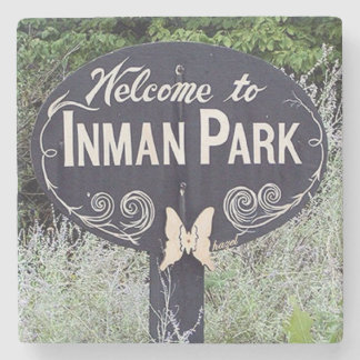 Welcome To Inman Park, Atlanta, Georgia, Coaster Stone Beverage Coaster