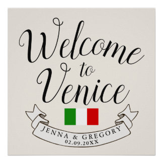 Welcome to Italy | Destination Wedding Custom Poster