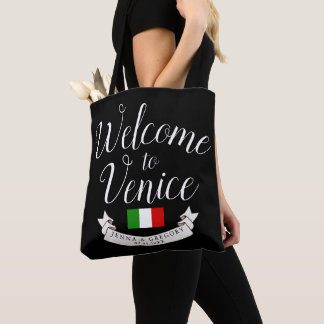 Welcome to Italy | Destination Wedding Custom Tote Bag