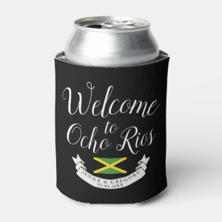 Welcome to Jamaica | Destination Wedding Custom Can Cooler