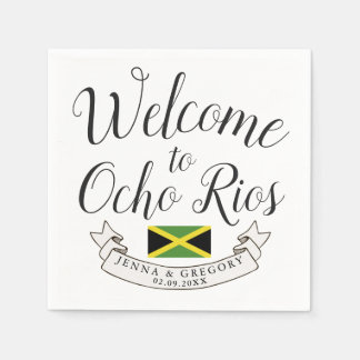 Welcome to Jamaica | Destination Wedding Custom Napkin