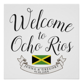 Welcome to Jamaica | Destination Wedding Custom Poster