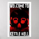Welcome To Kettle Hell - Kettlebell Skull Poster