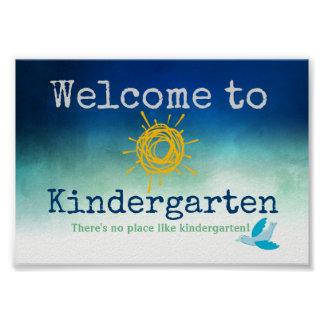 Welcome to Kindergarten Door Poster