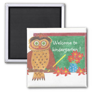 Welcome to kindergarten ! square magnet