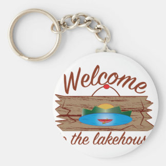Welcome To Lake House Keychain